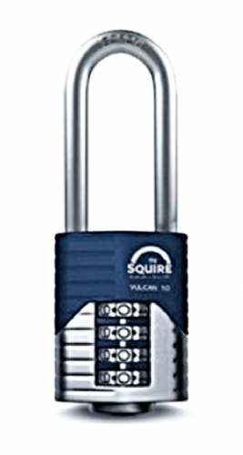 Squire Vulcan Combi 50/2.5 Long Shackle  Padlock